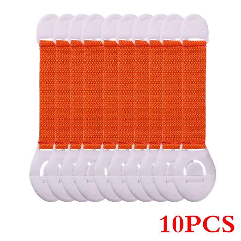 10 шт./лот защита от детей блокировка дверей для безопасности детей детский пластиковый замок Лучшие продажи - Цвет: Оранжевый