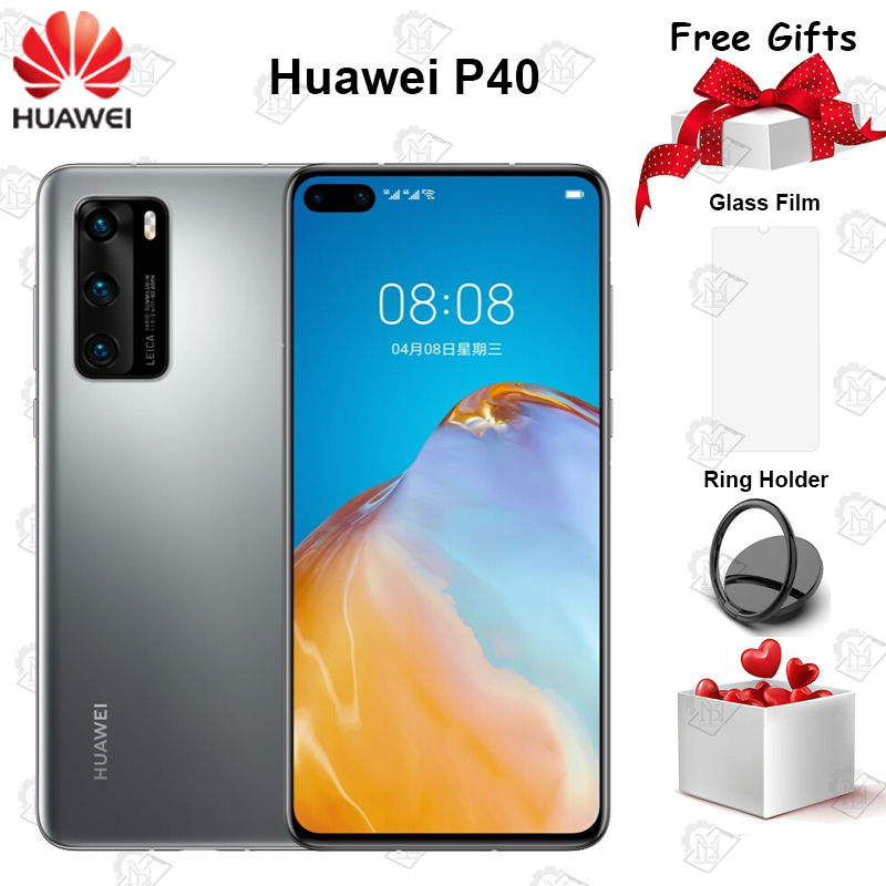 New Original Huawei P40 5G Mobile Phone 6.1 inch 8GB RAM 128GB ROM Kirin 990 Octa-core 50MP Ultra Version Camera NFC Smartphone