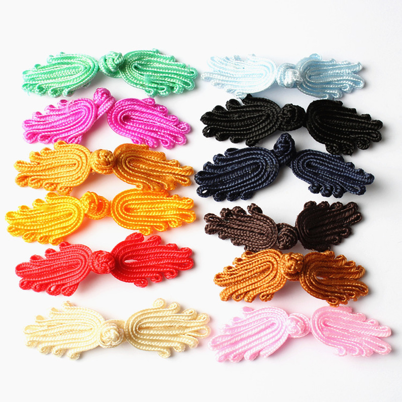20Pcs Chinese Knot Button Closure Fasteners Sewing DIY for Cheongsam Tang Suit