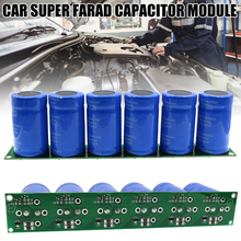 Gran oferta 1 Set/6 uds. Farad condensador 2,7 V 500F Super condensador con Placa de protección