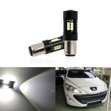 2x CANbus P21/5 Вт светодиодные автомобильные 1157 BAY15D прожекторные огни для peugeot 408 308 3008 RCZ Led DRL дневные ходовые огни