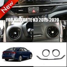 Autocollants de moulage intérieur en plastique pour Kia Forte K3 2019 – 2020, couverture de sortie d'air pour Console centrale, rouge, noir, 3 pièces