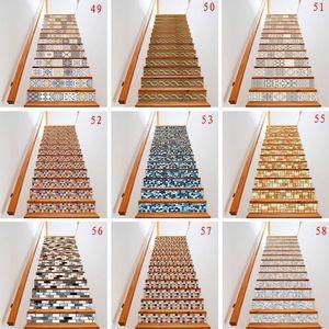 Image 1 - 13 ピース/セット 3D 階段ライザー床ステッカー防水自己粘着 diy 階段壁画家の装飾 X4YD