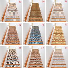 13pcs/set 3D Stair Riser Floor Stickers Waterproof Removable Self Adhesive DIY Stairway Decals Murals Home Decor X4YD