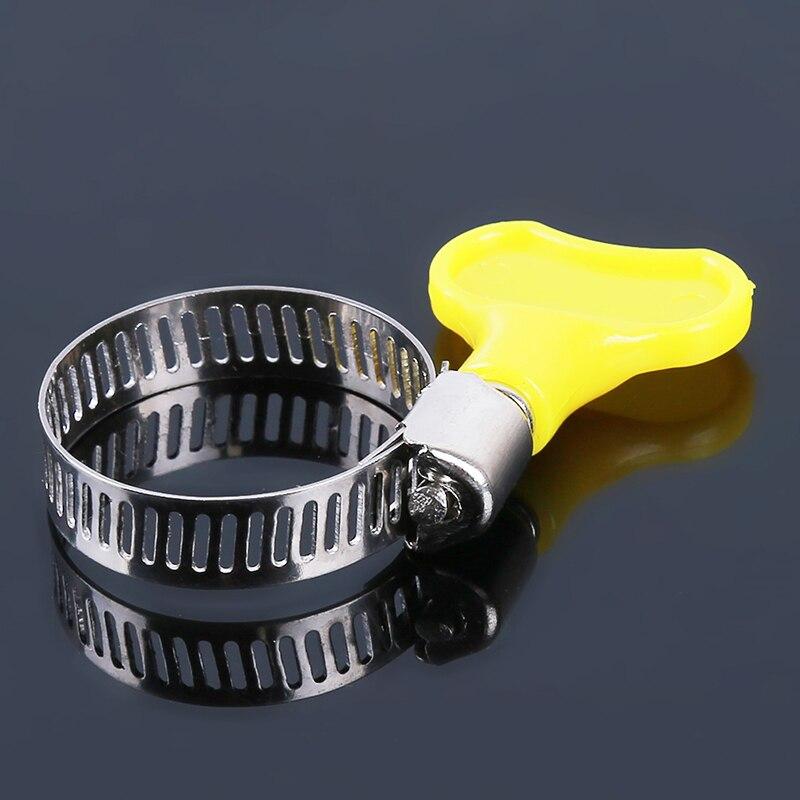 10 adet/grup 13-29mm tipi hortum kelepçesi s kolu, plastik + Metal hortum kelepçesi çember boru klipleri