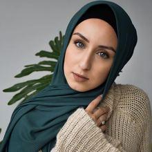 Модный плиссированный шарф в складку полоску шаль мусульманские