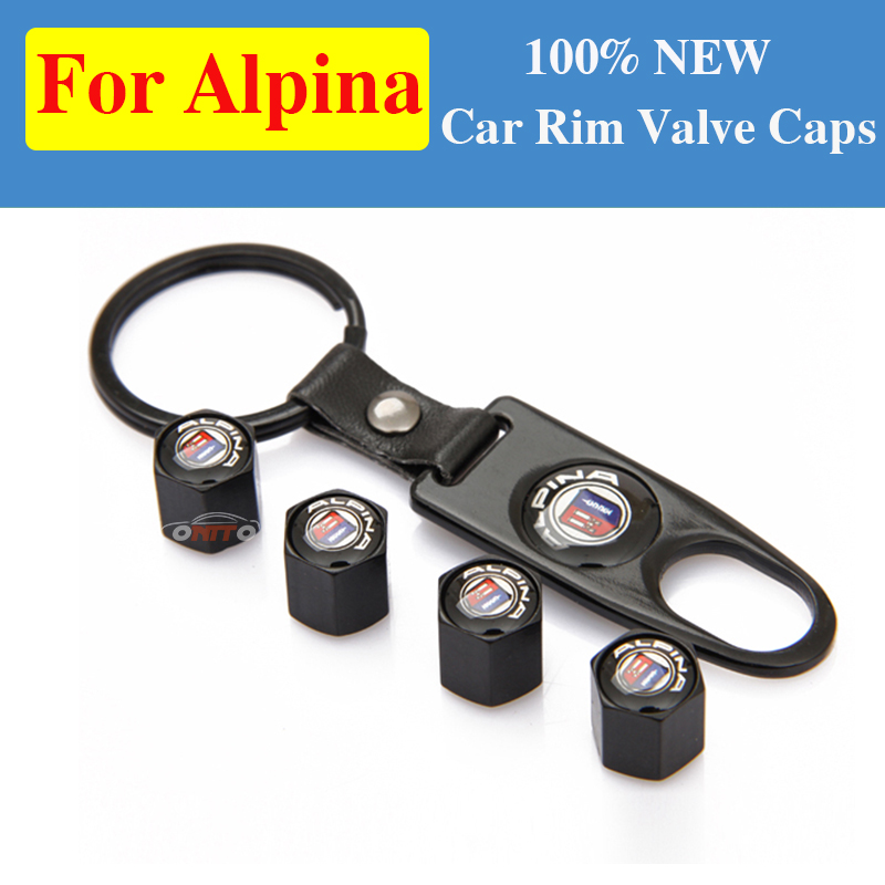 1set for Alpina Car Tire <font><b>Valve</b></font> <font><b>Cap</b></font> Tyre Air Stems <font><b>Caps</b></font> Auto Dust-proof Cover for <font><b>bmw</b></font> E60 E90 F10 F30 F15 x3 x4 x5 series image