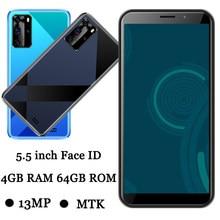 Telefones celulares 7a 5.5 polegada 4g ram 64g rom 5mp + 13mp quad core face id frontal/câmera traseira wifi desbloqueado smartphones versão global