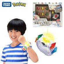 TOMY-caja de Pokémon para niños, juego de enlace 4D somatosensorial Z, pulsera Z de batalla de cristal, modelo de figura DE ACCIÓN DE Pikachu