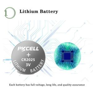 Image 2 - Batería de litio BR2025 ECR2025 CR 2025, botón de batería, celda de moneda, cr2025 3v, 40 Uds.