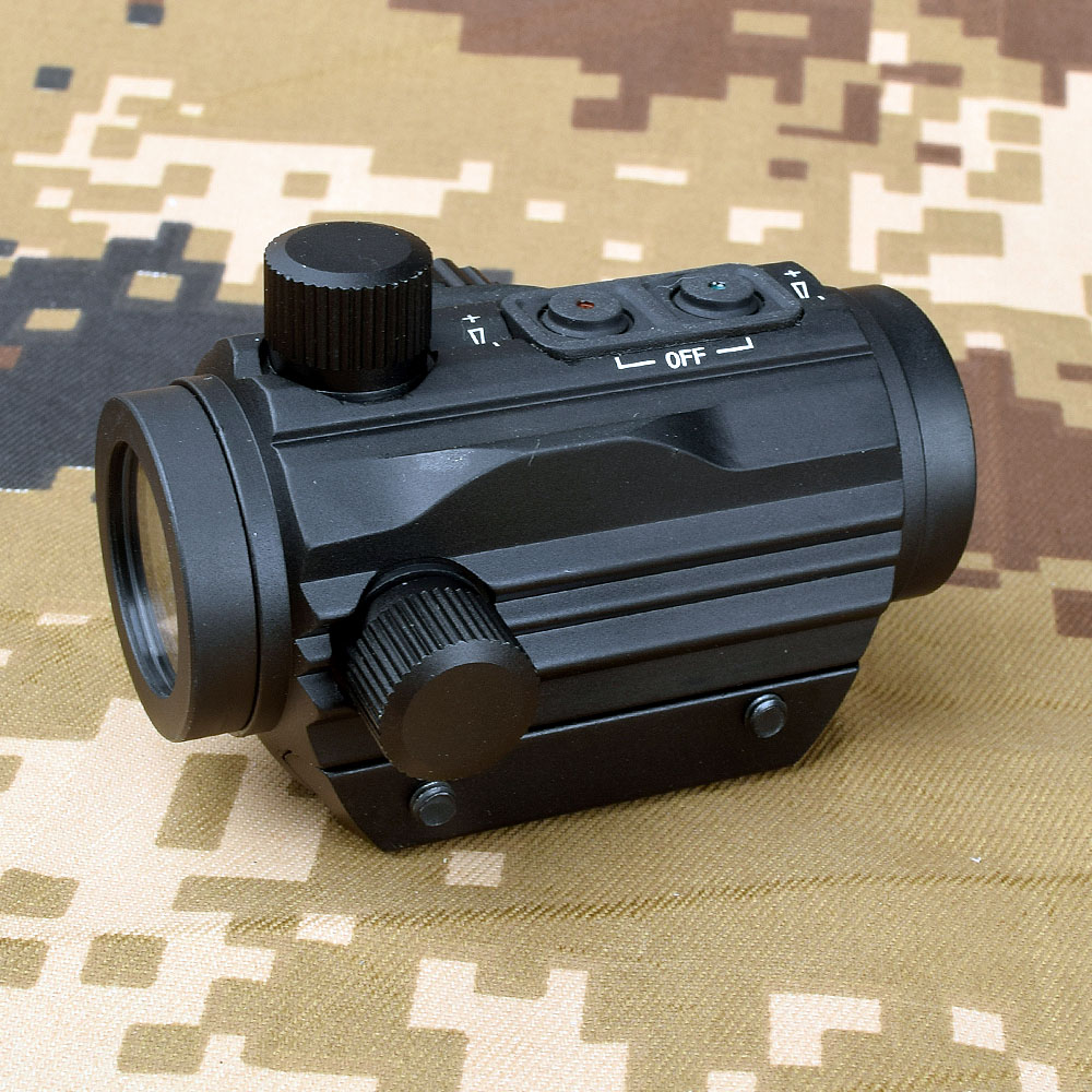 Outdoor Tactical 1X22 Red Dot Illuminated Sight Hunting Optics Picatinny 20MM Weaver Rail For Bow 10.7m/100m Viewing Rifl
