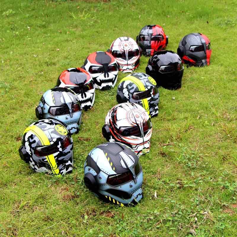 SOMAN 아이언 맨 헬멧 오토바이 헬멧 로봇 스타일 모터 자전거 Casco 몬스터 Casque DOT 승인 SM515 쿨 헬멧 515