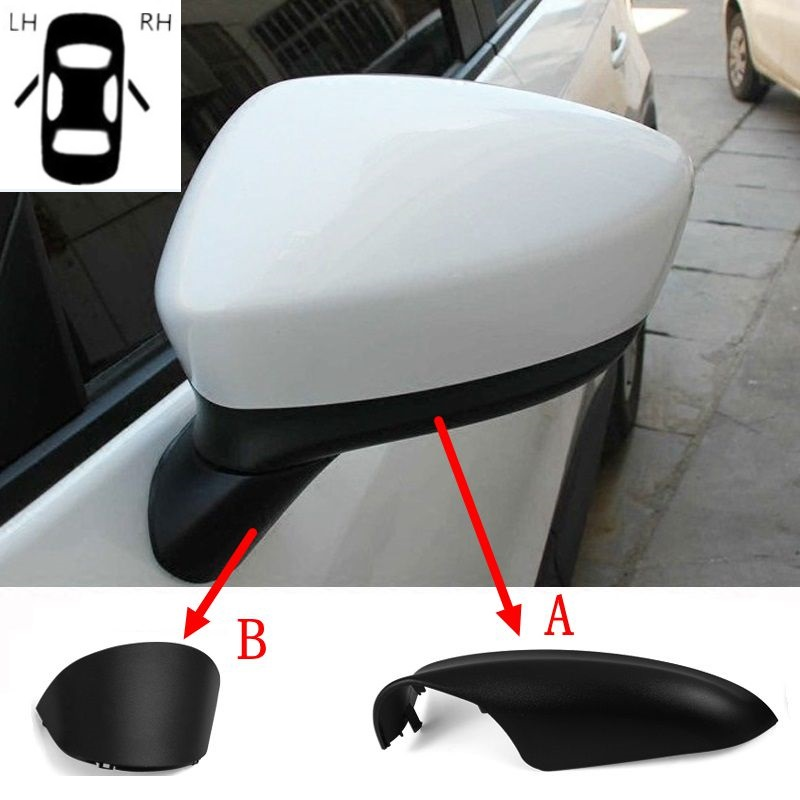 Audi A3 A4 A5 Primed Wing Mirror Door Cap Cover Trim Case Housing Right Side RH