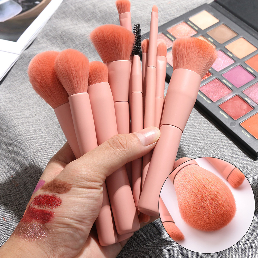 10PCS Wooden Foundation Cosmetic Eyebrow Eyeshadow Brush Makeup Brush Sets Tools Multifunctional Cosmetic Brush Make Up Tools(China)
