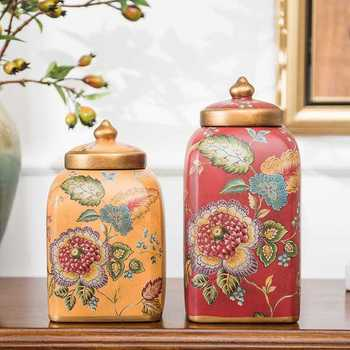 Porcelain home furnishings interior ceramic decoration retro storage tanks and two sets of equipment for the gateways LU625226