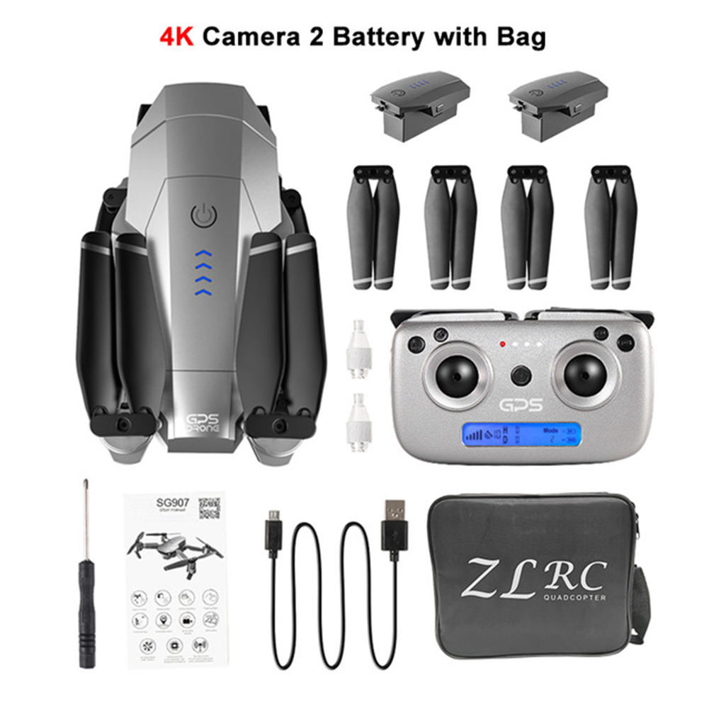 SG907 Quadcopter Kit WIFI Adjustment 4K 1080P Rechargeable Folding Professional GPS RC Drone With <font><b>Camera</b></font> Shockproof Wide Angle image