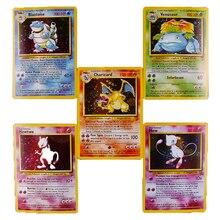 TOMY 5 шт./компл. Charizard Blastoise Venusaur Mewtwo Mew игры покемон торговые карты Мега сценические игры POKEMONS коллекция карточных игрушек
