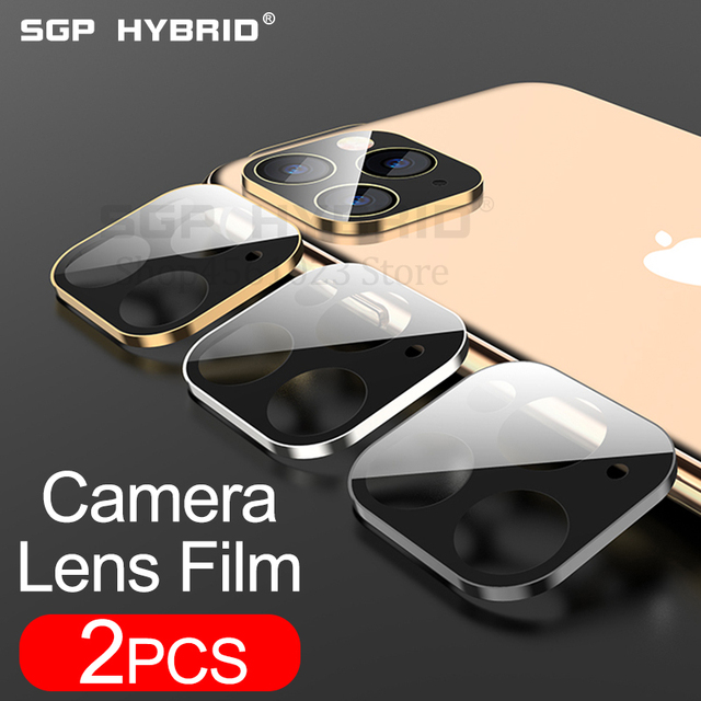 2Pcs Camera Lens Tempered Glass for iPhone 11 Pro XS Max XR X 2019 Metal Rear Lens Screen Protector Case for Apple 11 Pro XS Max