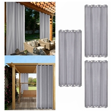 Grommets on Top and Bottom Outdoor Waterproof Curtain W54 x H106 in