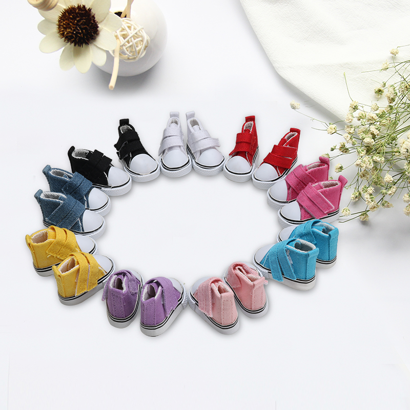 Doll Fashion Mini Canvas Shoes Handmade Dolls Accessories Educational Toy For Children DIY Dolls Shoe Gift