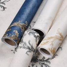 Самоклеющиеся обои для спальни Ретро стиль синие европейские