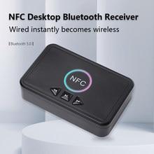 Nfc bluetooth 5.0 adaptador receptor de alto-falante em casa usb reprodução inteligente a2dp aux 3.5mm rca jack estéreo áudio sem fio adaptador