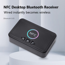 Adaptador NFC Bluetooth 5,0 receptor de altavoz doméstico, USB, reproducción inteligente, A2DP AUX 3,5mm, RCA, entrada Jack para Audio estéreo, adaptador inalámbrico