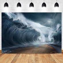 Yeele ночь Одежда для пляжа огромные волны фон фотосъемки с