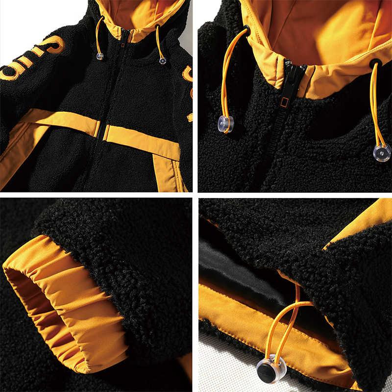 Goesresta 2020 Brand New Heren Dubbelzijdig Jacket Mode Wilde Herfst En Winter Streetwear Losse Warme Jas Jas mannen