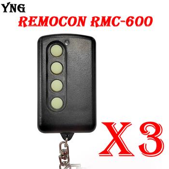 3 sztuk Remocon RMC600 pilot do drzwi garażowych powielacz 280mhz-500mhz regulowana częstotliwość Remocon RMC-600 otwieracz bramy tanie i dobre opinie CN (pochodzenie) YNG129 200mhz-500mhz Clone Fixed Code Remote Control Include Battery 20m-120m Open area