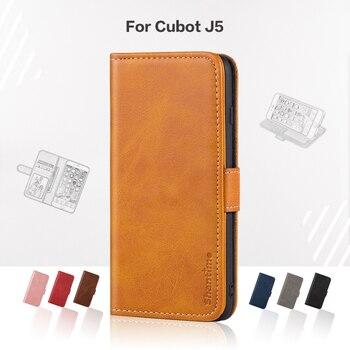 Перейти на Алиэкспресс и купить Откидной Чехол для Cubot J5, деловой чехол, роскошный кожаный чехол с магнитным бумажником для Cubot J5, чехол для телефона