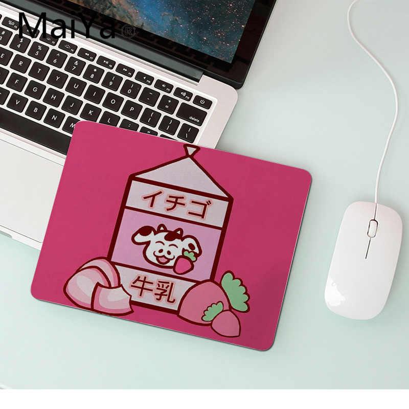 Maiya Chất Lượng Hàng Đầu Kawaii Nhật Bản Dâu Tây Sữa Để Bàn Độc Đáo Miếng Lót Game Mousepad Bán Chạy Hàng Đầu Sỉ Chơi Game Miếng Lót Chuột