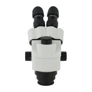 Image 5 - 3.5X 90X Simul הפוקוס סטריאו Trinocular זום מיקרוסקופ ראש WF10X/20mm עינית 0.7X 45X מטרה עדשת זום רציף