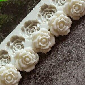 Image 2 - Gül çiçek silikon kalıp fondan kalıp kek dekorasyon araçları çikolata Gumpaste kalıp pişirme araçları