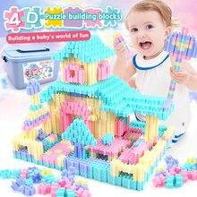 450PCS Fun Puzzle Building Blocks City Castle House DIY Creative Bricks Block Model Figures Educational Toys For Children Gifts