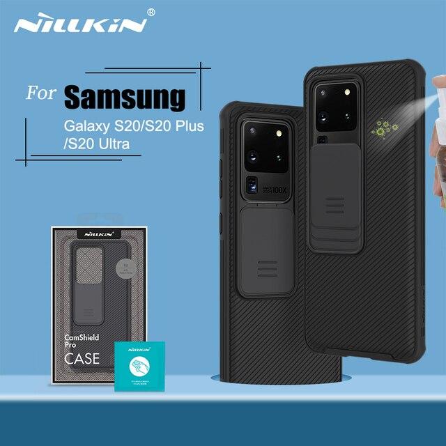 حافظة لهاتف سامسونج جالاكسي S20 NILLKIN CamShield حافظة كاميرا منزلقة لحماية الخصوصية غطاء خلفي نظيف لهاتف سامسونج S20 Plus S20 Ultra