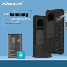 Samsung Galaxy S20 durumda NILLKIN CamShield durumda slayt kamera gizlilik korumak temiz arka kapak Samsung S20 artı S20 ultra
