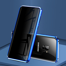 360 Magnetic Anti-Peeping Tempered Phone Case For Samsung Galaxy S10 S9 S8 Plus S10E Note 8 9 Privacy Anti-spy Metal Cover