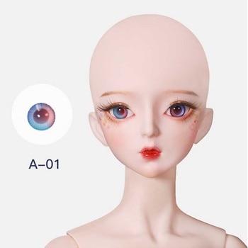 BJD Doll Accessories Doll Eyeball Glass BJD Eyes 14MM simulating human pressure purple eyes 12mm 14mm 16mm 18mm for bjd doll sd luts dod as gc46