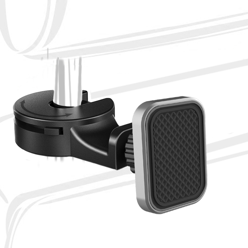 XMXCZKJ Magnetic Car Phone Holder For IPhone X XS Max 7 Back Seat Hook Phone Stand For Xiaomi Headrest Holder For Phone In Car