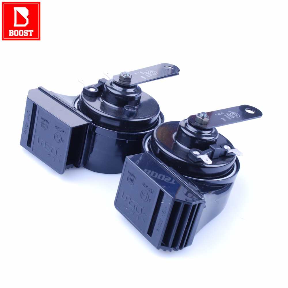 BOOST 168 Car Horn for Automtive Car Compressor,12V Signal Super Double Volume Sound Perfect Dual Waterproof Design Air Horn(China)