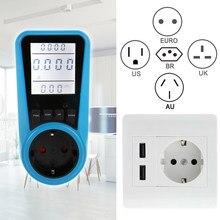 Es/BR/US/EU/Reino Unido enchufe automático Kwh interruptor de potencia Digital vatímetro Analizador de potencia electrónica de potencia medidor de energía