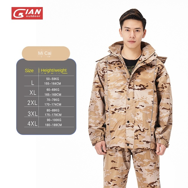 Adults Camouflage Men Raincoat Rain Pants Suit Motorcycle Waterproof Body Rain Coat Jacket Mens Sports Suits Rainwear Hiking