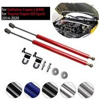 for Daihatsu Copen 2014 2019 for Toyota Copen GR Sport Front Hood Bonnet Gas Struts Carbon Fiber Lift Support Shock Damper Strut Bars     -