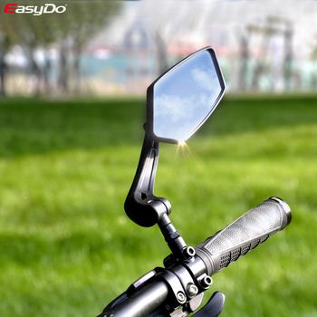 EasyDo rowerowe lusterko wsteczne rowerowe rowerowe szerokokątne lusterko wsteczne regulowane lusterko lewego prawego tanie i dobre opinie CN (pochodzenie) ED3171 Bike mirror black 170g pc HIgh quality Nylon+Convex Glass 60mm*150mm 360 full degree rotated Light weight Nylon