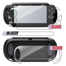 Игровая консоль HD экран Защитная пленка для игрового плеера защитная накладка Передняя Задняя пленка прозрачная защитная пленка для sony PS Vita