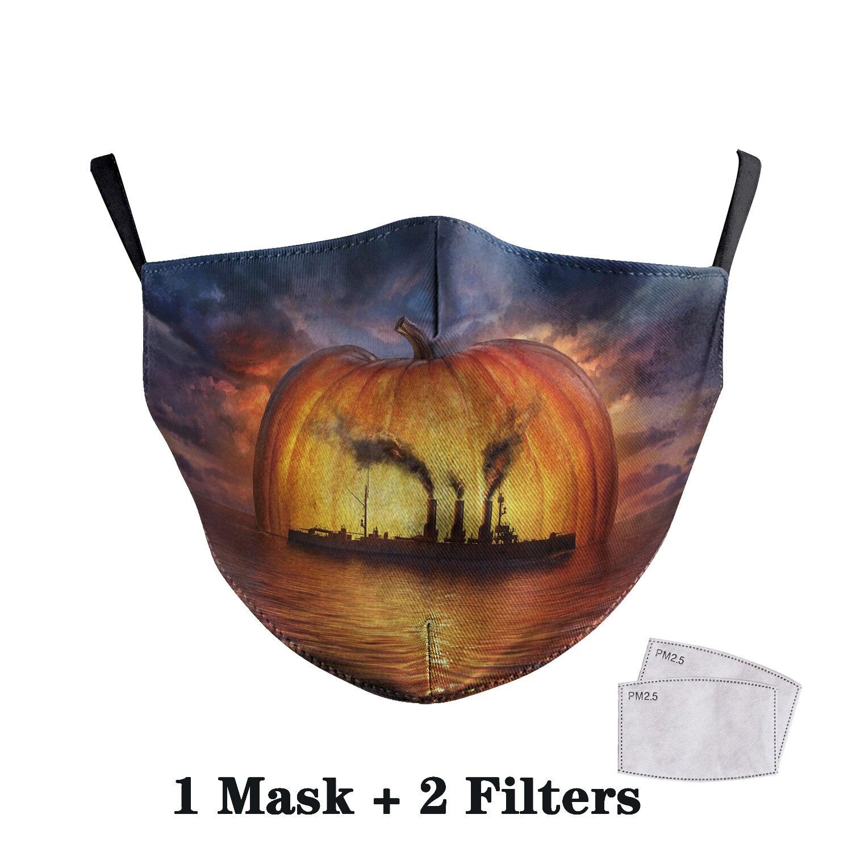 Washable Big Mouth Skull Face Masks 38