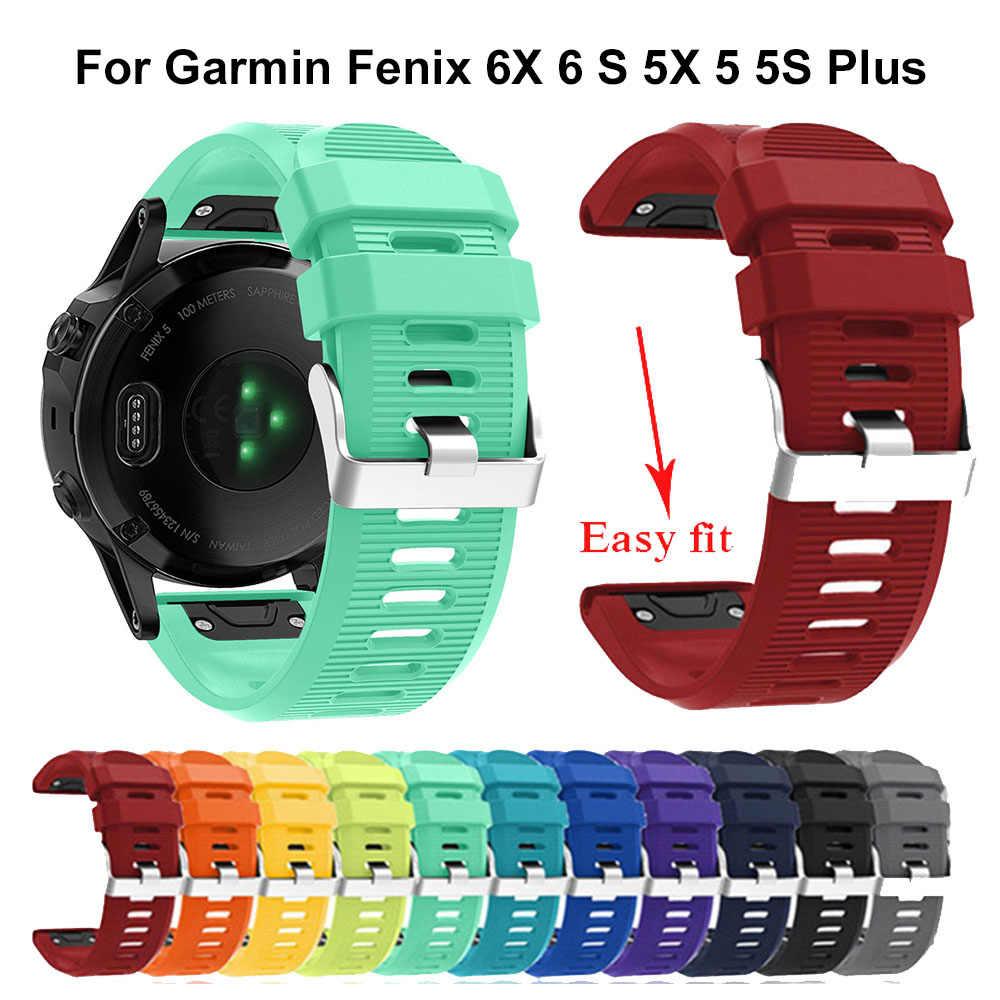 20 22 26 مللي متر سوار ساعة ذكية حزام ل Garmin Fenix 5X5 5s 3 3HR forerunner 935 ساعة الإفراج السريع سيليكون Easyfit معصمه