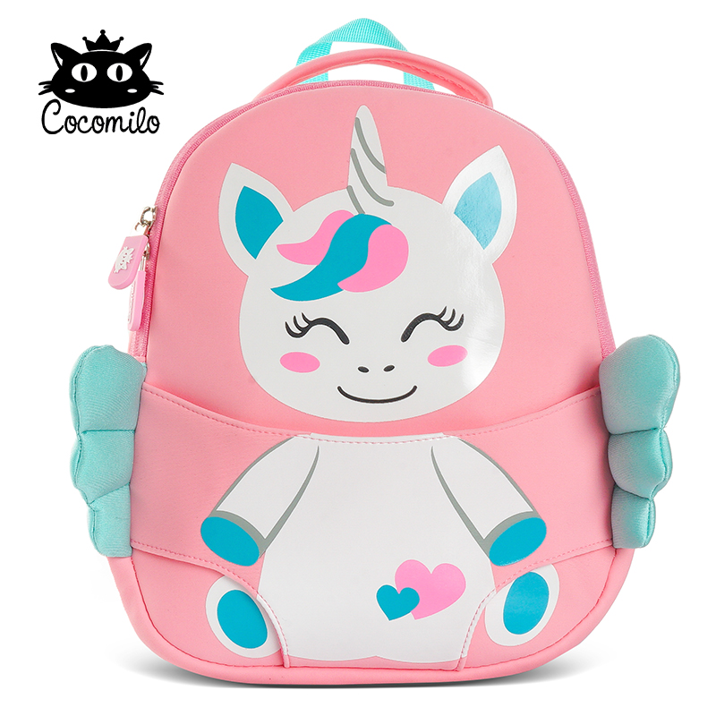 Cocomilo 2019 3D Unicorn School Backpack For Girls Boys Cartoon Bear Backpacks Waterproof Children Kindergarten Mochila Infantil
