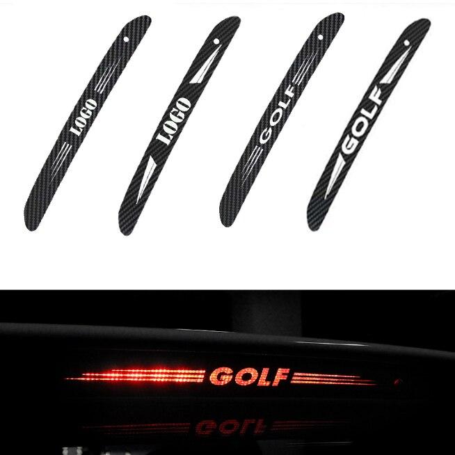 1 sztuk z włókna węglowego naklejki samochodowe wysoko montowane światło hamowania świecące naklejki dla Volkswagen VW GTI GOLF 5 6 7 t5 t7 MK6 MK7 POLO